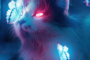 Cat Bladerunner Art 4k