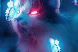 Cat Bladerunner Art 4k Wallpaper