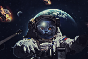 Cat In Space 4k Wallpaper