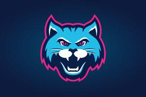 Cat Logo Minimal 4k Wallpaper