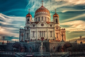 Cathedral Of Christ The Savior Russia In Moscow Wallpaper