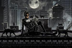 Catwoman Art Wallpaper