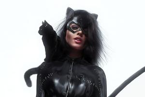 Catwoman Art Wtih Cat
