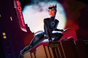 Catwoman Illustration 5k Wallpaper