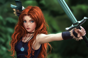Celtic Warrior Princess 4k Wallpaper