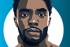 Chadwick Boseman Illustration