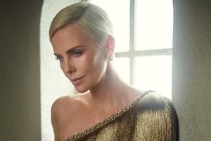Charlize Theron Vanity Fair Oscar Portrait 4k Wallpaper