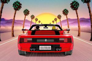 Chasing The Sun Ferrari 5k Wallpaper