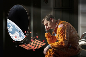 Chess In Space Astronaut 4k