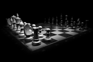 Chess Monochrome Wallpaper