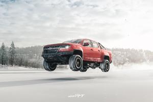 Chevrolet Truck Jump Snow Forza Horizon 4 4k