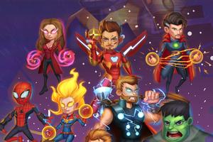 Chibi Avengers Endgame Art