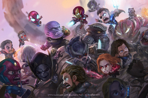 Chibi Avengers Infinity War