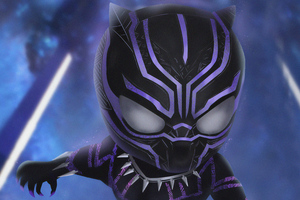 Chibi Black Panther 4k