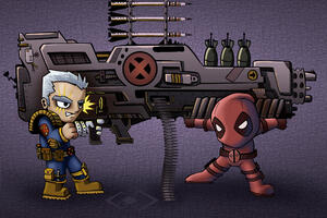 Chibi Cable And Deadpool