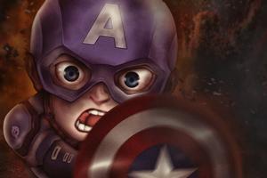 Chibi Captain America Wallpaper