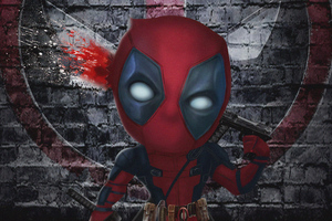 Chibi Deadpool 4k Artwork
