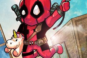 Chibi Deadpool 4k