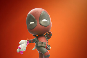 Chibi Deadpool Art Wallpaper