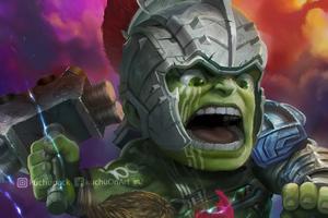 Chibi Hulk And Thor Wallpaper