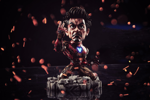 Chibi I Am Iron Man 4k