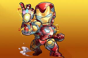 Chibi Iron Man Infinity Stones