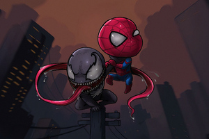 Chibi Spider Venom Wallpaper