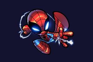 Chibi Spiderman Artwork Wallpaper