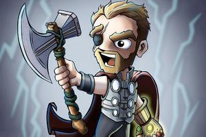 Chibi Thor From InfinityWar