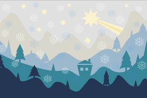 Christmas Flat Design Background