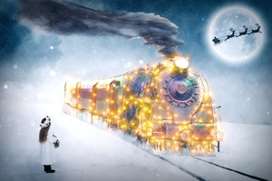 Christmas Motif Train Children