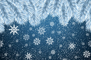 Christmas Snowflakes Background 8k Wallpaper