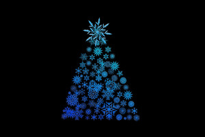 Christmas Tree Digital Art Wallpaper
