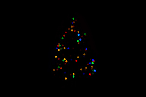 Christmas Tree Minimalism Dark 4k