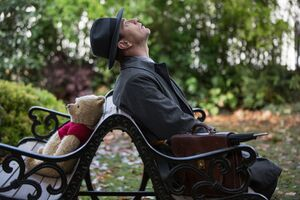 Christopher Robin And Winnie The Pooh In Christopher Robin 2018 Movie