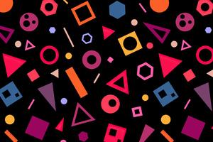 Circle And Rectangles Abstract 4k Wallpaper