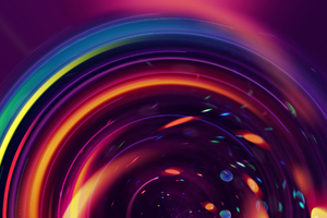 Circle Digital Art Abstract Wallpaper