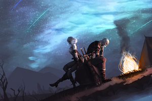 Ciri And Geralt 5k Wallpaper
