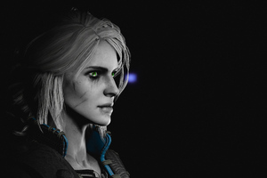 Ciri Glowing Green Eyes