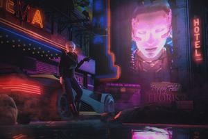 Ciri In Cyberpunk Life 5k Wallpaper