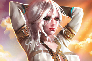 Ciri Sketch Paint Art Wallpaper