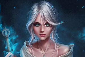 Ciri The Witcher 3 Art Wallpaper