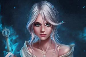 Ciri The Witcher 3 Art Wallpaper
