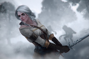 Ciri The Witcher 3 Digital Art 4k Wallpaper