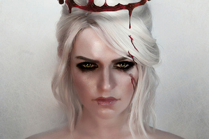 Ciri The Witcher 3 Game Artwork