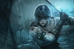Ciri The Witcher 3 Wild Hunt Art 5k