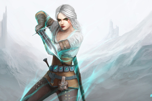 Ciri The Witcher 3 Wild Hunt Art