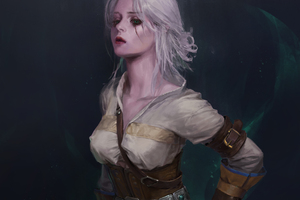 Ciri The Witcher 3 Wild Hunt Artwork