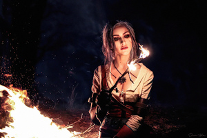 Ciri The Witcher Cosplay 4k Wallpaper