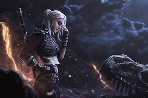 Ciri Witcher Cosplay 4k Wallpaper